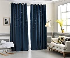 Boys Space Curtains Amazon Com Aifish 1 Panel Unique Star Shaped Cutouts Room