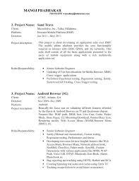 resume template sle mobile application testing resume sle agile sle customer