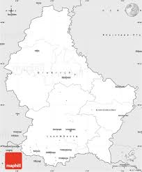 Blank Map Of Russia by Silver Style Simple Map Of Luxembourg