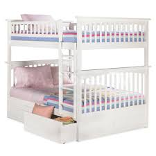 Bunk Beds  Full Over Full Bunk Beds With Stairs Twin Xl Over - White bunk beds twin over full with stairs