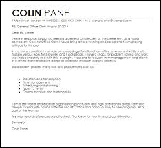 cover letter for a resume exle general office clerk cover letter sle livecareer