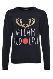 rudolph sweater usco team rudolph sweater in black iclothing