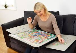 jigsaw puzzle tables portable portapuzzle delue piece jigsaw puzzle board and transport tikspor