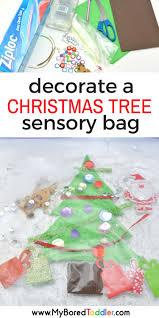 toddler christmas tree sensory bag toddler christmas crafts