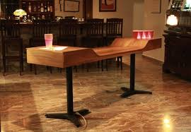 Beer Pong Table Size Super Sleek Custom Beer Pong Table Puts The Drunk Back In Your Game