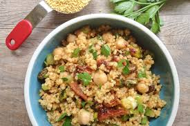 millet cuisine moroccan millet or quinoa salad with chickpeas what would cathy eat