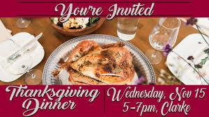 thanksgiving dinner mitchell college