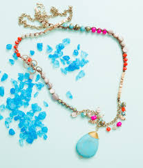turquoise colored necklace images Multi colored beaded turquoise pendant necklace panacea jewelry jpg