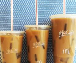Iced Coffee Mcd mcdonald s on on a scale of small to large icedcoffee