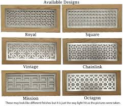 Metal Flush Mount Return Grill Decorative Floor Vent Cover