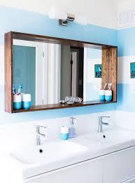 specchi con cornice specchio da bagno con cornice in legno l130 h80 cm