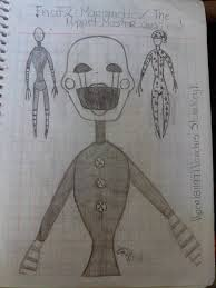marionette the puppet master fnaf2 sketches 1 by viper181199 on