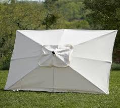 Portable Patio Umbrella by Rectangular Market Umbrella Solid Pottery Barn