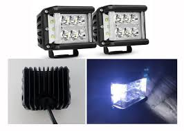 Led Driving Lights Automotive 45w 4 5 U201d Square Led Driving Lights 6500k Offroad Truck Work Lights