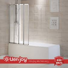 4 fold chrome frame folding bath shower screen door panel glass 4 fold chrome 900x1400mm frame folding bath shower screen door panel glass
