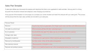 sales plan template template examples