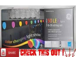 ge color effects 50 led color changing light show wremote