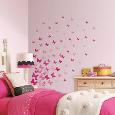 Beautiful Wall Stickers For Room Interior Design by Beautiful Wall Sticker Of Butterfly Painting Bedroom Rukle White