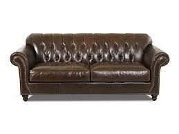 Tufted Modern Sofa by Furniture Home Chester Bay Tufted Genuine Leather Chesterfield