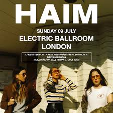 haim poster haim announce tiny london show live clash magazine