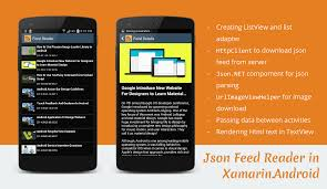 xamarin android json feed reader application in xamarin android stacktips