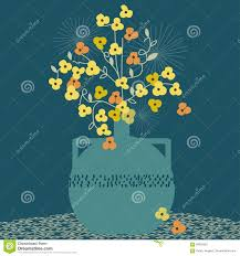 The Handpicked Vase Old Fashioned Vase With Flowers Buttercups Stock Vector Image