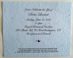 invitation memorial card for funeral example celebration of life