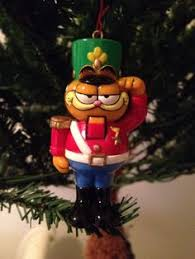 garfield the cat as santa with milk and cookies wooden