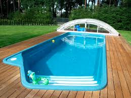 inground pool cost semi inground pools image worker drains a