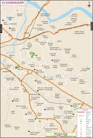 Blank Maharashtra Map by Ulhasnagar City Map City Map Of Ulhasnagar
