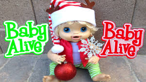baby alive babies decorate christmas tree and get an unexpected