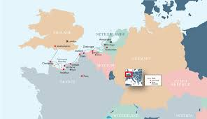Rouen France Map by The 75th Anniversary Of D Day An Iconic Journey Of Remembrance