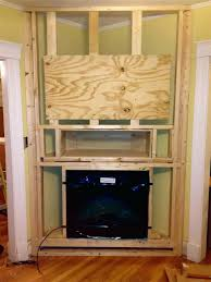 built in corner fireplace designs rock with bookcase electric