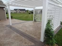 stamped concrete decorative concrete capital r coatings