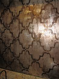 Moorish Design by Moorish Trellis Wall Stencil Moorish Stenciling And Leaves