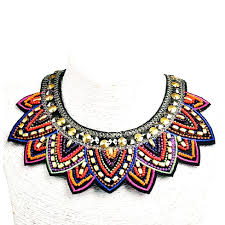 beaded statement necklace images Beaded statement necklace finerys jpg