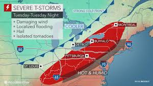 Weather Map Ohio by Heat And Humidity To Set Stage For Severe Storms In The Northeast