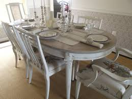 vintage french country dining table and chairs by meandphoebe