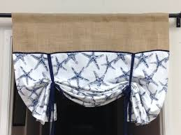 Nautical Valance Curtains Interesting Ideas Themed Curtains And Valances Burlap Tie Up