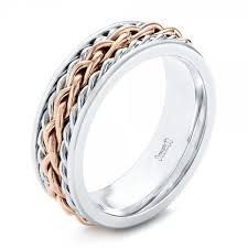 braided band custom two tone braided men s band 103482
