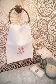 Paper Hand Towels For Powder Room - house of harper reveals her powder room decor house of harper