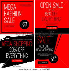 sale instagram banners black friday sale stock vector 415114864