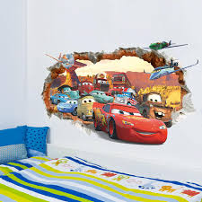 3d disney cars wall stickers boys room wall decals boys room 3d disney cars wall stickers