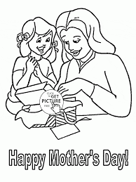 present for mommy mother u0027s day coloring page for kids coloring