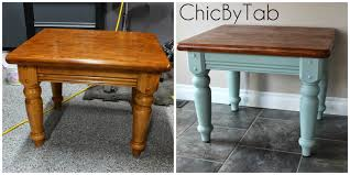 chalk paint coffee table chicbytab coffee table make over 2