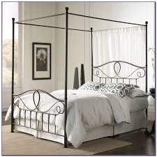 size canopy bed frame king size metal canopy bed frame bedroom home design ideas