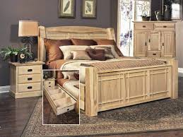 hickory highlands arch bed with storage drawers hom furniture