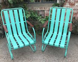 Patio Chairs Metal Metal Patio Furniture Etsy