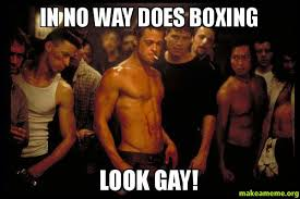 Meme Boxing - in no way does boxing look gay make a meme