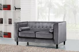 Grey Button Sofa Taylor Gray Sofa 642 Meridian Furniture Fabric Sofas At Comfyco